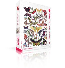 New York Puzzle Co Butterflies- Papillons - 1000 Piece Puzzle