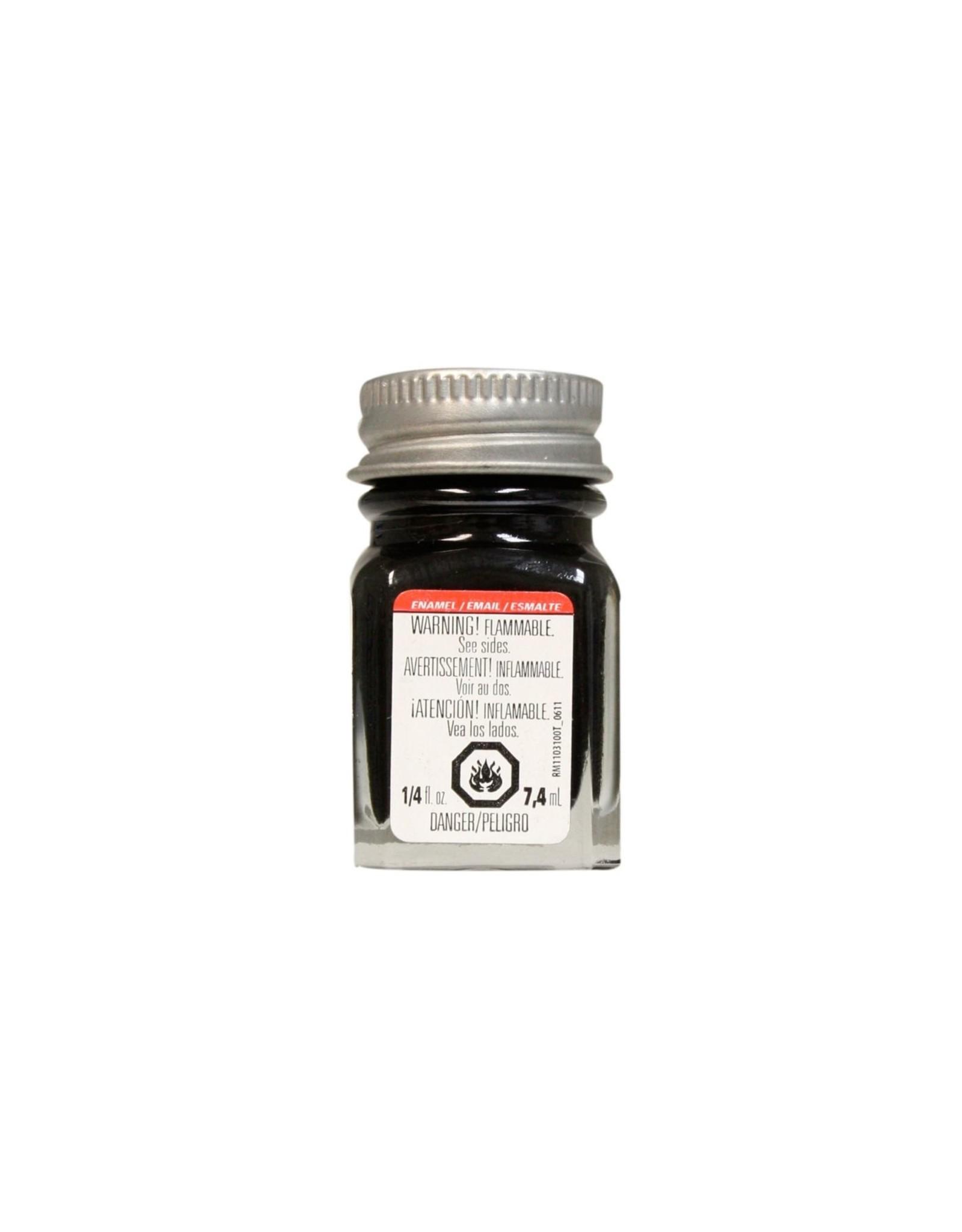 Testors 1139TT - Enamel 1/4 oz - Semi-Gloss Black