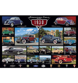 Eurographics American Cars Of The 1930's - 1000 Piece Puzzle