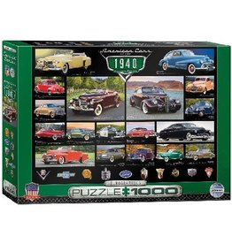 Eurographics American Cars Of The 1940's - 1000 Piece Puzzle