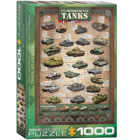 Eurographics History of Tanks - 1000 Piece Puzzle