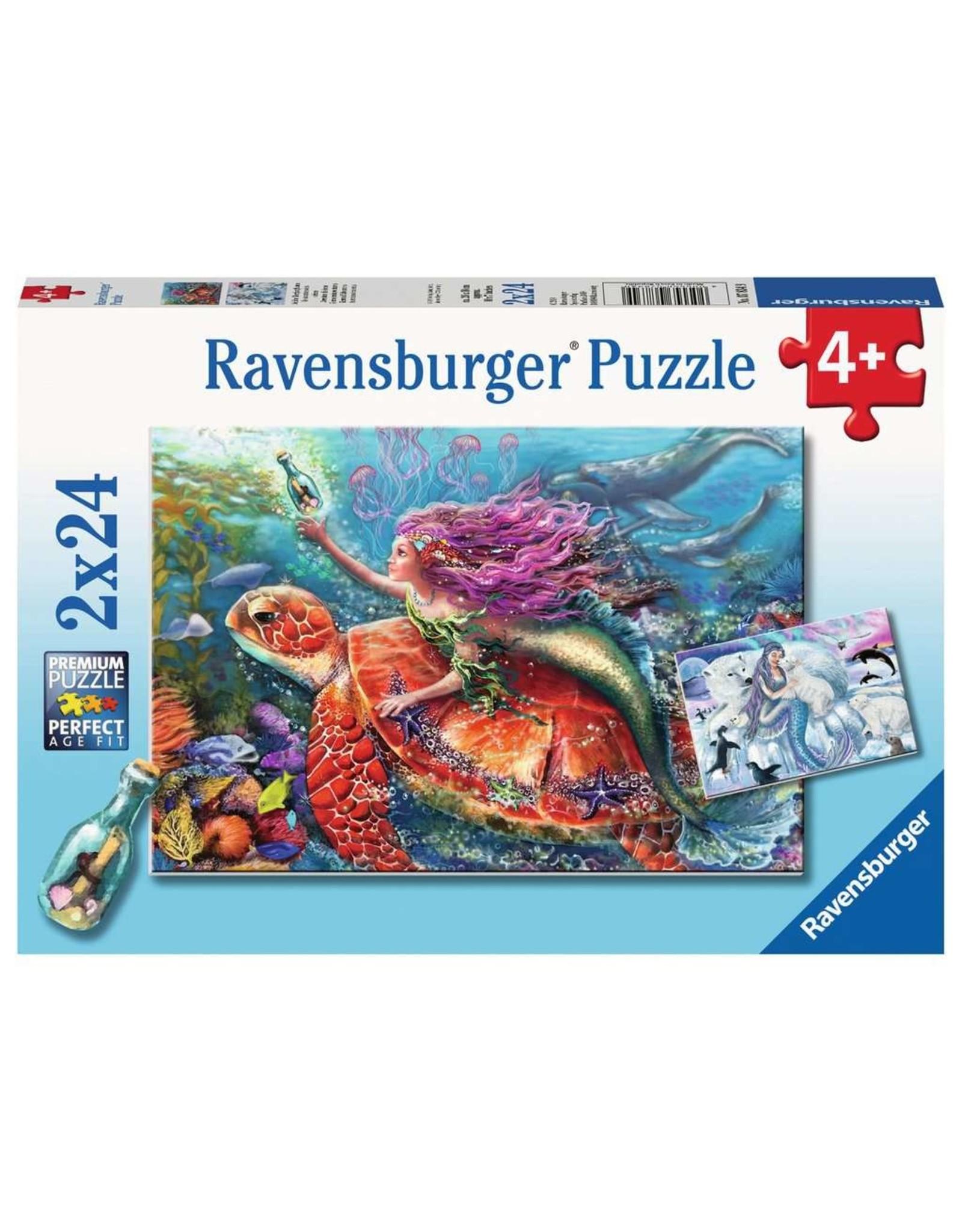 Ravensburger Mermaid Adventures - 24 Piece Puzzle (2 Pack)