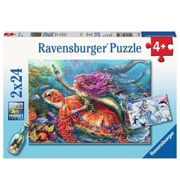 Ravensburger Mermaid Adventures - 24 Piece Puzzle (2 Pack)
