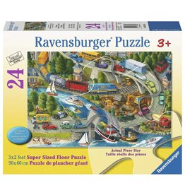 Ravensburger Vacation Hustle - 24 Piece Floor Puzzle