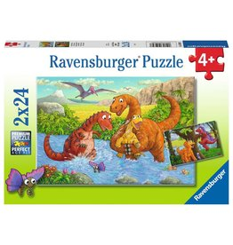 Ravensburger Dinosaurs at Play - 24 Piece Puzzle (2 Pack)