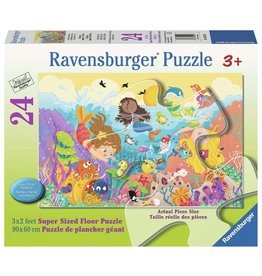Ravensburger Splashing Mermaids - 24 Piece Floor Puzzle