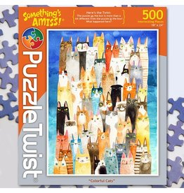 Puzzle Twist Colorful Cats - 500 Piece Puzzle