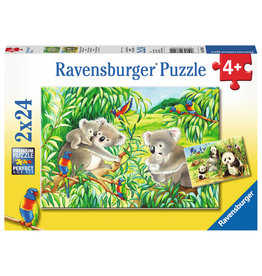 Ravensburger Sweet Koalas and Pandas - 24 Piece Puzzle (2 Pack)