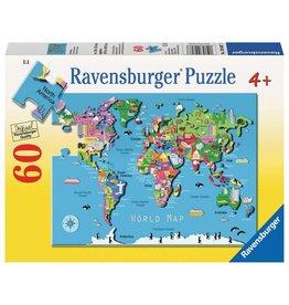 Ravensburger World Map - 60 Piece Puzzle