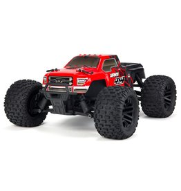 Arrma 1/10 GRANITE MEGA 550 Brushed 4WD Monster Truck RTR - Red/Black