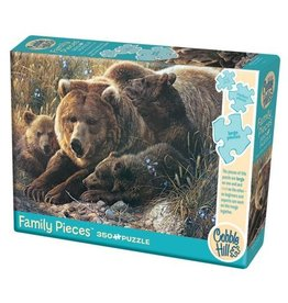 Cobble Hill Grizzly Family - 350 Piece Puzzle