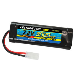 Common Sense RC Lectron Pro NiMH 7.2V (6-cell) 3000mAh Flat Pack with Tamiya Connector