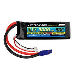 Common Sense RC 3S3000-30-EC3 - 11.1V 3000mAh 30C Lipo Battery with EC3 Connector