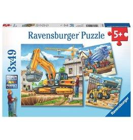 Ravensburger Large Construction Vehicles - 49 Piece Puzzle (3 Pack)