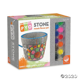 Mindware Paint Your Own: Stone Mosaic Flower Pot