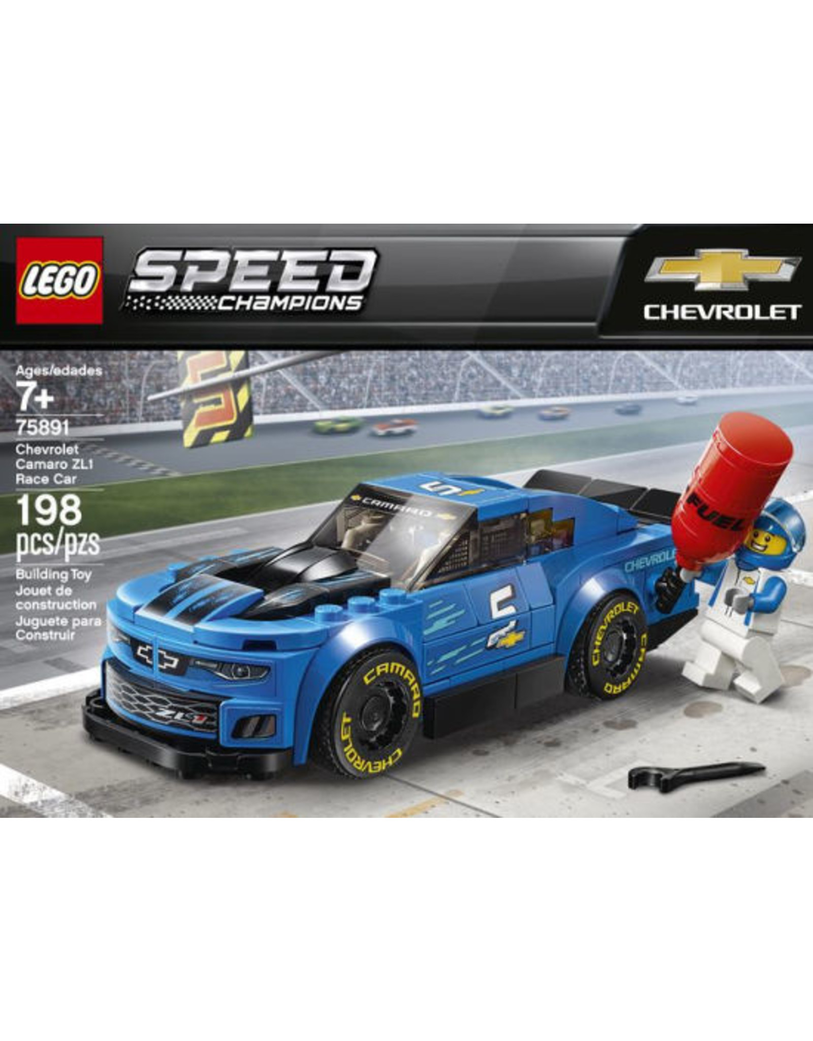 75891 LEGO Speed Champions Chevrolet ZL1 Camaro Car Building Kit Set /& Driver