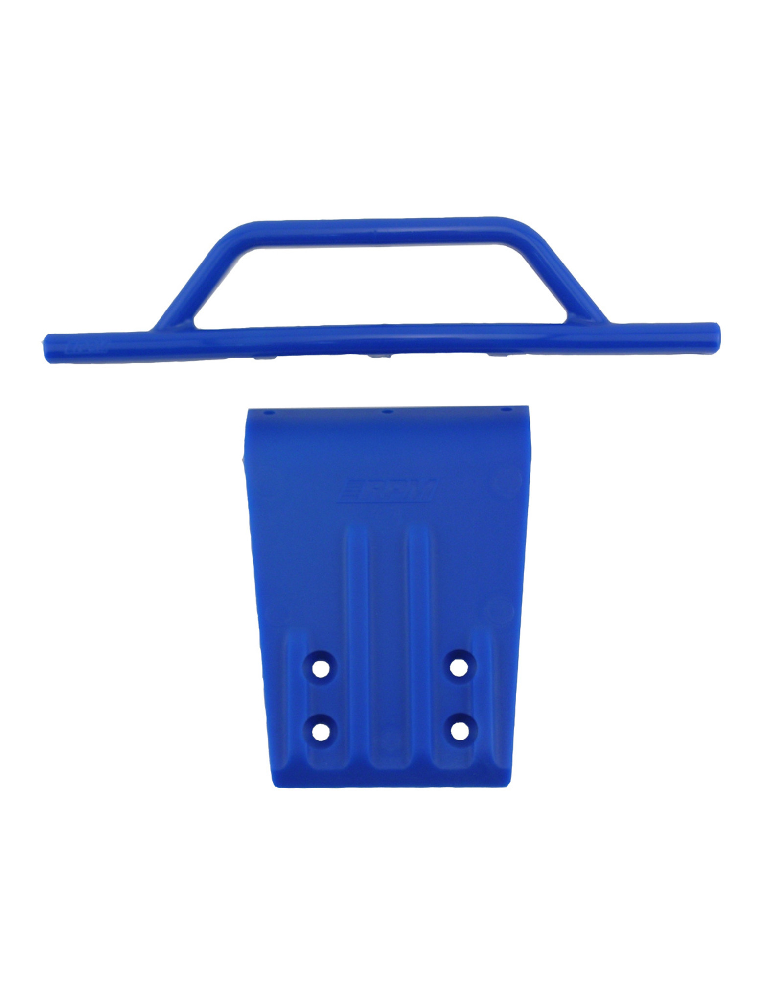 RPM 80955 Front Bumper /& Skid Plate Blue Traxxas Slash