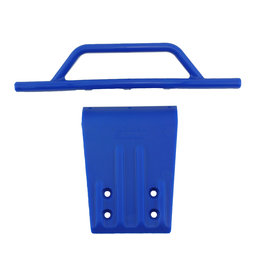 RPM 80955 - Front Bumper & Bumper Skid Plate for Traxxas Slash 2WD - Blue