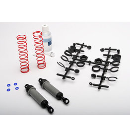 Traxxas 3762A - Ultra Shocks XX-Long Set for Bigfoot, Rustler, Slash, Stampede - Grey