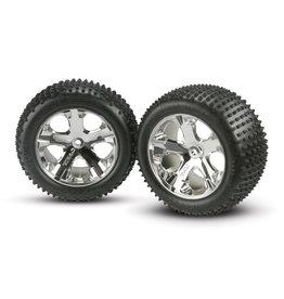 Traxxas 3770 - All-Star Chrome Wheels / Alias Tires - 2WD Electric Rear