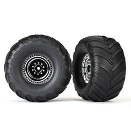 Traxxas 3665X - Chrome Wheels / Terra Groove Dual Profile Tires