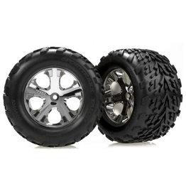 Traxxas 3668 - All-Star Chrome Wheels / Talon Tires