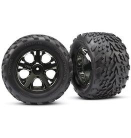 Traxxas 3669A - All-Star Black Chrome Wheels / Talon Tires