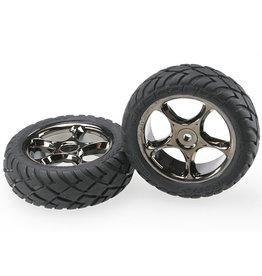 "Traxxas 2479A - Tracer 2.2"" Black Chrome Wheels / Anaconda® 2.2"" Tires"