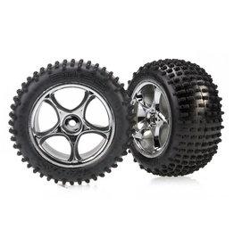 """Traxxas 2470R - Tracer 2.2"""" Chrome Wheels / Alias Tires"""