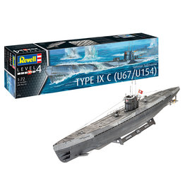 Revell of Germany 05166 - 1/72 German Submarine Type IX C U67/U
