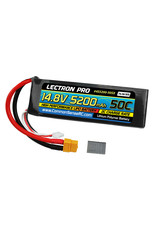 Common Sense RC 4S5200-50SX - 14.8V 5200mAh 50C Lipo Battery Soft Pack with XT60 Connector + CSRC Adapter