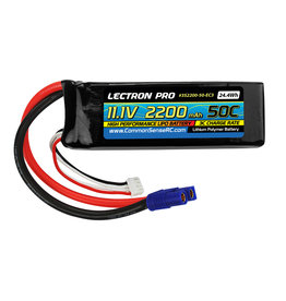 Common Sense RC 3S2200-50-EC3 - 11.1V 2200mAh 50C Lipo Battery with EC3 Connector