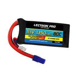 Common Sense RC 3S1350-80E - 11.1V 1350mAh 80C Lipo Battery with EC3 Connector