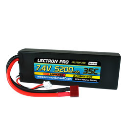 Common Sense RC 2S5200-35D - 7.4V 5200mAh 35C Lipo Battery with Deans-Type Connector