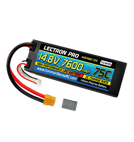 Common Sense RC 4S7600-75X - 14.8V 7600mAh 75C Hard Case Lipo Battery with XT60 Connector + CSRC Adapter