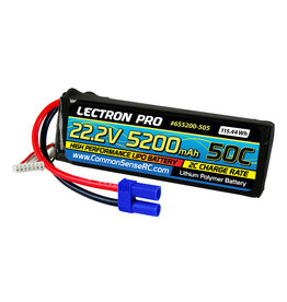 Common Sense RC 6S5200-505 - 22.2V 5200mAh 50C Lipo Battery with EC5 Connector