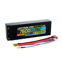 Common Sense RC 2S7600-75B - 7.4V 7600mAh 75C Lipo Battery w/ 4mm Bullet Connector