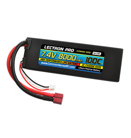 Common Sense RC 2S8000-100D - 7.4V 8000mAh 100C Lipo Battery with Deans-Type Connector
