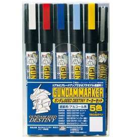 Mr. Hobby GMS114 - Gundam Marker Seed Destiny Set (6 Pack)
