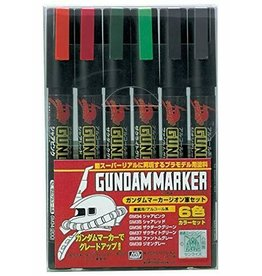 Mr. Hobby GMS108 - Gundam Marker Zeon Set (6 Pack)
