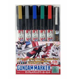 Mr. Hobby GMS121 - Gundam Marker Metallic Set (6 Pack)