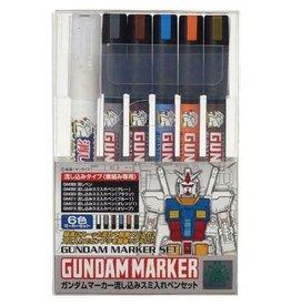 Mr. Hobby GMS122 - Gundam Marker Pour Type Set (6 Pack)