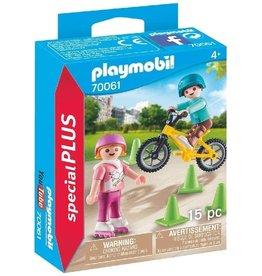 Playmobil 70061 - Children with Skates & Bike