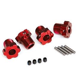 Traxxas 8654R - 17mm Wheel Hubs Splined for Maxx, E-Revo - Red