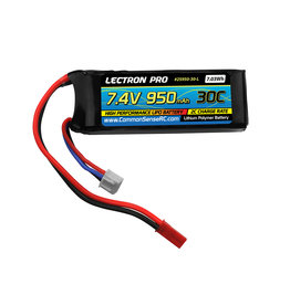 Common Sense RC 2S950-30-L - 7.4V 950mAh 30C Lipo Battery with JST Connector