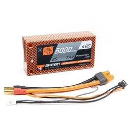 Spektrum SPMX50002S50HT -  7.4V 5000mAh 2S 50C Smart Race Shorty Hardcase LiPo Battery: Tubes, 5mm