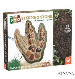 Mindware Paint Your Own: Dinosaur Footprint Stepping Stone