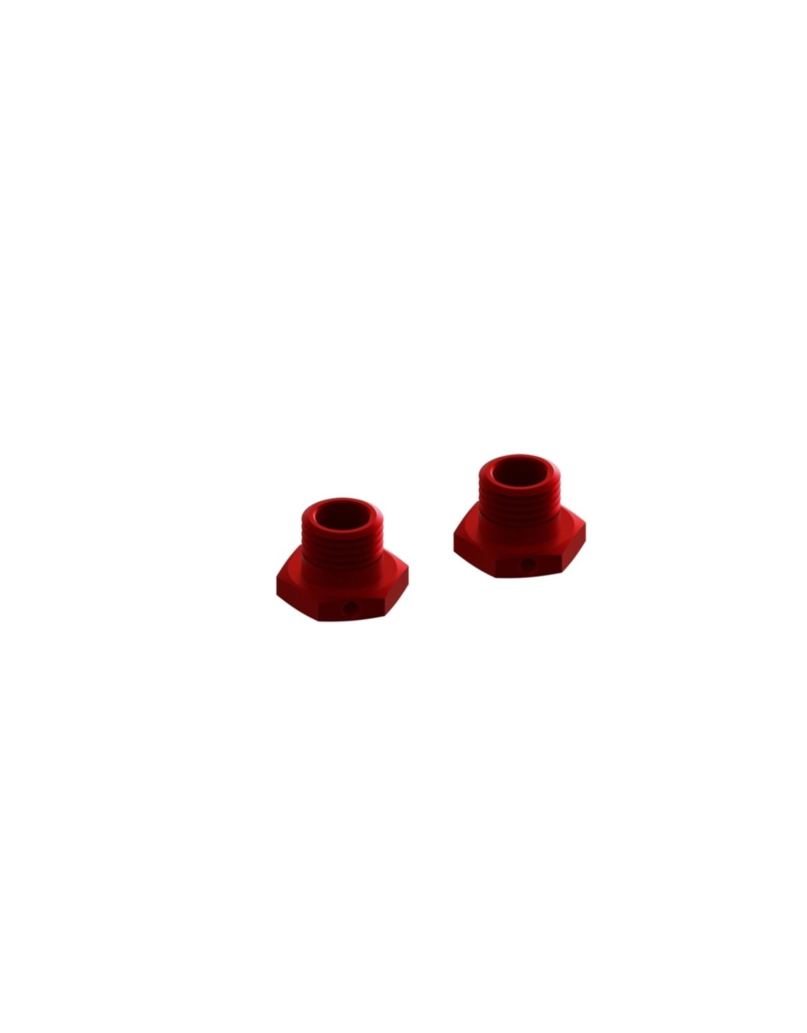 Arrma AR310447 - Aluminum Wheel Hex 17mm/13.6mm Thick - Red