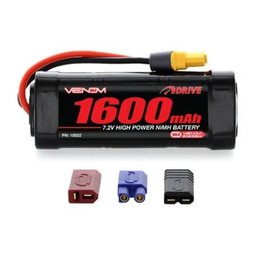 Venom Racing VNR15022 -  7.2V 1600mAh 6-Cell DRIVE 1/16 NiMH Battery: UNI 2.0 Plug