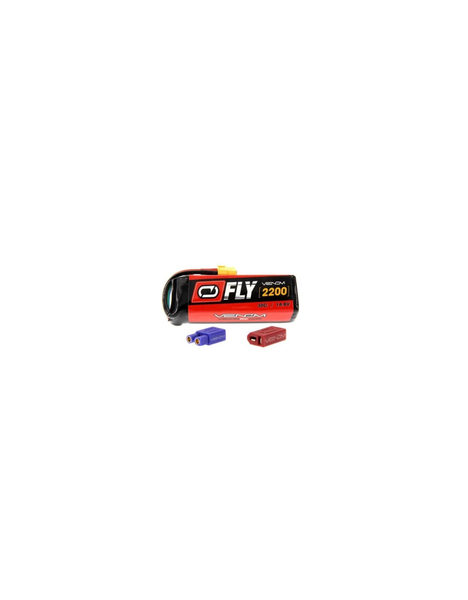 Venom Racing VNR25004 - 14.8V 2200mAh 4S 30C FLY LiPo Battery: UNI 2.0 Plug